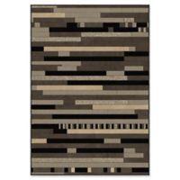 Orian Rugs Nuance Rhythm Woven 7'10 x 10'10 Area Rug in Earl Grey