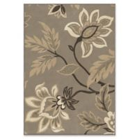 Orian Rugs Nuance Lily Taupe Woven 6'7 x 9'8 Area Rug in Grey