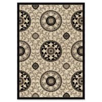 Orian Rugs Nuance Annex Taupe Woven 7'10 x 10'10 Area Rug in Grey