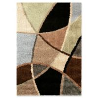 Orian Rugs Abstract Duchess 6'7 x 9'8 Area Rug in Brown
