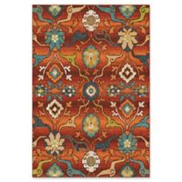 Orian Rugs Tibet Floral 5'3 x 7'6 Area Rug in Red