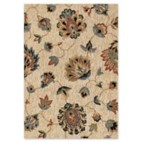 Orian Rugs Next Generation Floral Como Woven 5'3 x 7'6 Area Rug in Beige