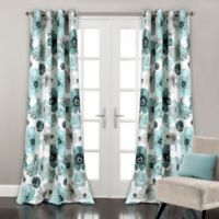 Lush Décor Leah 84-Inch Grommet Top Room Darkening Window Curtain Panel Pair in Blue