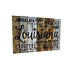 Sweet Bird & Co. Louisiana Food 18-Inch x 12-Inch Wood Wall Art