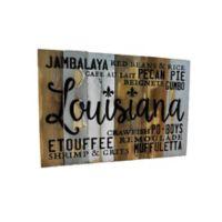 Sweet Bird & Co. Louisiana Food 18-Inch x 12-Inch Wood Wall Art