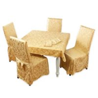 Stylemaster® Genoa 9-Piece 52-Inch Square Tablecloth Set in Gold
