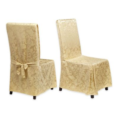 StylemasterR Genoa Dining Room Chair Covers In Ivory Set Of 2