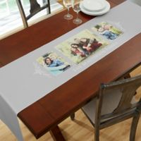 Family Photo 3-Photo Table Runner in Grey