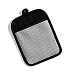 Popular Bath Quilted Silicone Oven Mitt in Silver