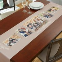 Family 96-Inch 5 Photo Table Runner in grey