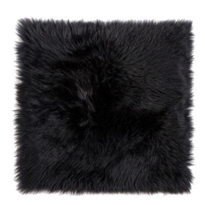New Zealand Sheepskin Chair Pad In Black