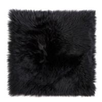 New Zealand Sheepskin Chair Seat Cover in Black