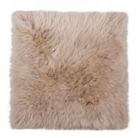 New Zealand Sheepskin Chair Seat Cover in Taupe