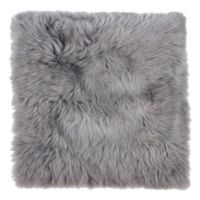 New Zealand Sheepskin Chair Seat Cover in Grey