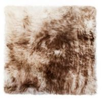 New Zealand Sheepskin Chair Seat Cover in Chocolate