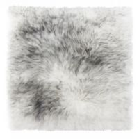 New Zealand Sheepskin Chair Seat Cover in Gradient Grey
