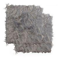 Laredo Faux Sheepskin Chair Pads in Grey (Set of 2 )