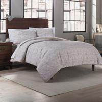 Garment Washed Printed King Comforter Set in Taupe Dot