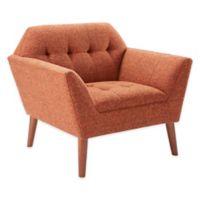 INK+IVY Newport Lounge Chair in Orange/Pecan