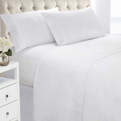 Swift Home Quilted Twin Sheet Set In White