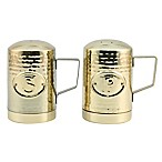 Thirstystone® Hammered Gold Finish Salt & Pepper Shakers Set