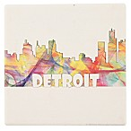 Thirstystone® Dolomite Detroit Skyline Single Square Coaster