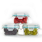 ProGlass Square Food Storage Containers with Lids (Set of 3)