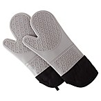 Nottingham Home Lavish Silicone Oven Mitts in Grey