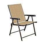 Never Rust Aluminum Folding Sling Chairs in Bronze (Set of 2)