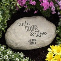 Faith, Hope and Love Garden Stone