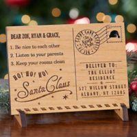 Santa's Magic Mail Wood Postcard