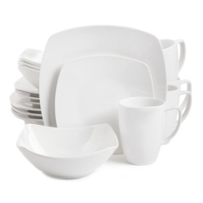 Gibson Elite Zen 16-Piece Dinnerware Set in White  sc 1 st  Bed Bath u0026 Beyond & Buy Gibson Everyday Dinnerware from Bed Bath u0026 Beyond