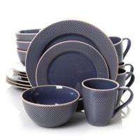 Gibson Lilith 16-Piece Dinnerware Set in Blue