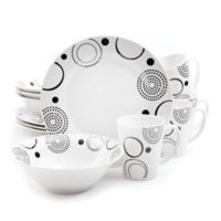 Gibson Modern Times 12-Piece Dinnerware Set in White