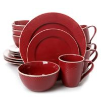 Gibson Lilith 16-Piece Dinnerware Set in Red