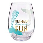 Formations Stemless Wine Glass in Mermaid