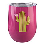 Formations Stemless Wine Glass with Lid in Cactus