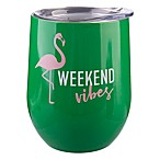 Formations Stemless Wine Glass with Lid in Flamingo