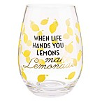 Formations Stemless Wine Glass in Lemon