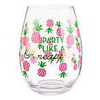 Formations Stemless Wine Glass in Pineapple