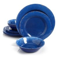 Studio California Mauna 12-Piece Dinnerware Set in Blue