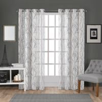 Edinburgh 108-Inch Grommet Top Window Curtain Panel Pair in White