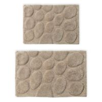 "Palm 2-Piece 20"" x 30"" and 21"" x 34"" Bath Mat Set in Stone"