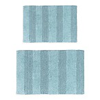 "Castlehill Wide Cut 2-Piece 20"" x 30"" and 24"" x 40"" Bath Mat Set in Light Blue"