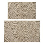 "Perthshire 17"" x 24"" and 24"" x 40"" Circles Bath Rug in Stone (Set of 2)"
