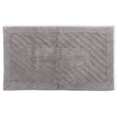 Perthshire 21 X 34 Diagonal Racetrack Reversible Bath Rug In Silver
