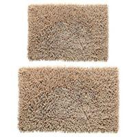 Castle Hill London 2-Piece 20-Inch x 30-Inch/24-Inch x 40-Inch Chenille Bath Rug Set in Natural