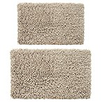 Castle Hill London Melbourne 2-Piece 17  x 24  and 20  x 30  Bath Mat Set in Stone