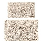 "Castle Hill London Melbourne 2-Piece 20"" x 30"" and 24"" x 40"" Bath Mat Set in Ivory"