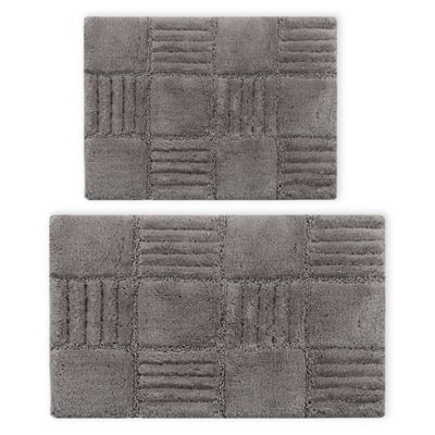 Castlehill Chr Board Bath Rug In Silver Set Of 2